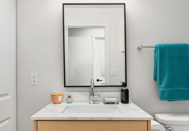 Modern, Black-Framed Mirrors